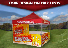 Custom Printed Marquees - Your design on our tents