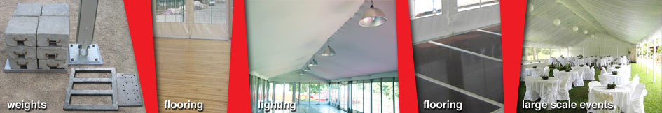 Marquee Pavillion weights flooring lighting large scale events